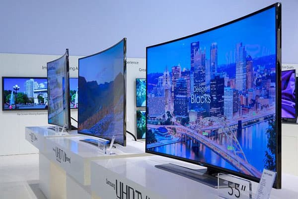 تلویزیون های صفحه منحنی
